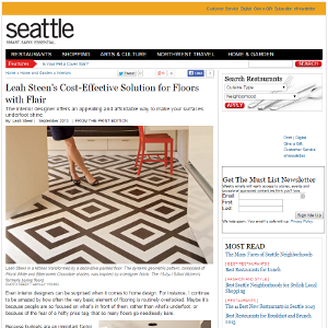 Leah Steen's Cost-Effective Solution for Floors with flair